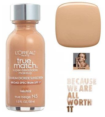L'Oréal Paris True Match Super Blendable Makeup Foundation - N5 True Beige