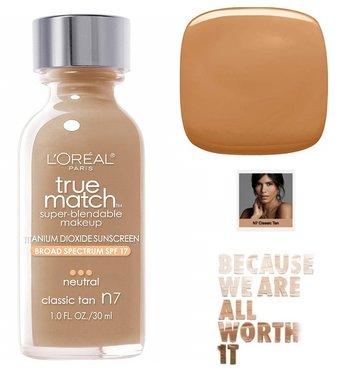 L'Oréal Paris True Match Super Blendable Makeup Foundation - N7 Classic Tan