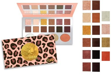 Rude Cosmetics Leopardina 12 Eyeshadow + 4 Highlighter