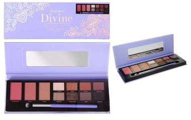 Profusion Divine Eye + Cheek Palette SMOKY - 11 shades + applicator brush