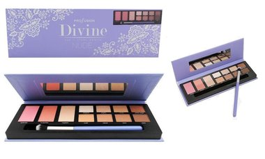 Profusion Divine Eye + Cheek Palette NUDE - 11 shades + applicator brush