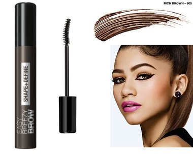 Covergirl Easy Breezy Brow Shape & Define Eyebrow Mascara - 605 Rich Brown