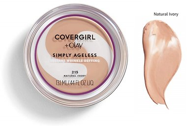 Covergirl & Olay Simply Ageless Instant Wrinkle Defying Foundation SPF 28 - 215 Natural Ivory