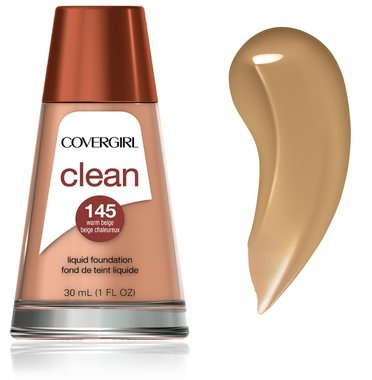 Covergirl Clean Normal Skin Foundation - 145 Warm Beige