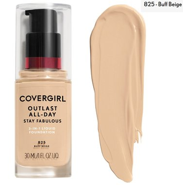 Covergirl Outlast All-Day Stay Fabulous 3-in-1 Foundation, Primer & Concealer SPF20 - 825 Buff Beige
