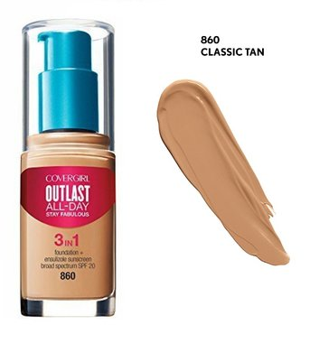 Covergirl Outlast All-Day Stay Fabulous 3-in-1 Foundation, Primer & Concealer SPF20 - 860 Classic Tan