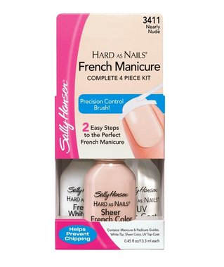 Sally Hansen Hard As Nails French Manicure Kit - 3411 Nearly Nude