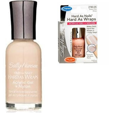 Sally Hansen Hard As Wraps Strength Treatment - Acryl Gel + Nylon Formule - 2780.05 Sheer Pink