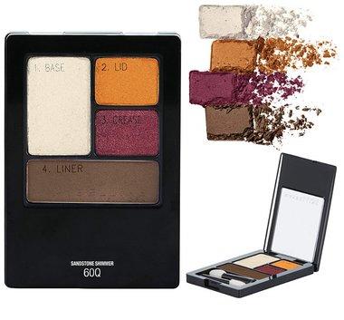 Maybelline Expert Wear Eyeshadow Quads - 60Q Sandstone Shimmer
