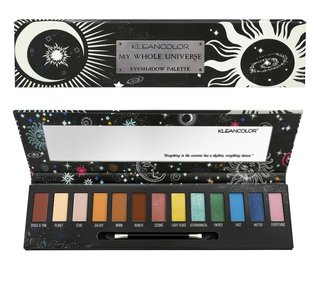 Kleancolor My Whole Universe Eyeshadow Palette - 13 Shades + Mirror & Applicator - ES191