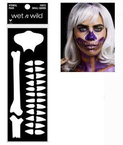 Wet 'n Wild Fantasy Makers Face and Body Stencil - 12972 Skull Queen