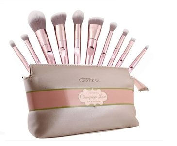 Beauty Creations Champagne Luxe 10pc Brush Set - 11BSRGP