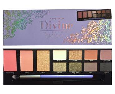 Profusion Divine Eye + Cheek Palette SMOKY - 11 shades + applicator brush