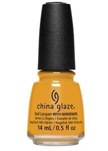 China Glaze Nagellak met Nagelverharder - 873870 - Mustard The Courage - Okergeel - Nagellak - 14 ml