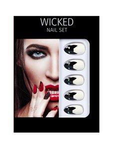 Salon Perfect Halloween Nepnagels - Wicked Nail Set - nep nagels set - 48422 - Black Cat - Kunstnagels - Zwart
