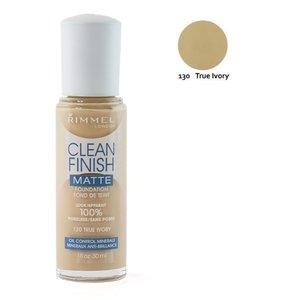 Rimmel London Clean Finish Matte Foundation - 130 True Ivory