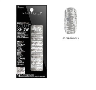Maybelline Color Show Fashion Prints Mirror Effect Nail Stickers - 60 Frayed Foils