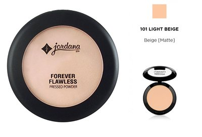 Jordana Forever Flawless Pressed Powder - 101 Light Beige