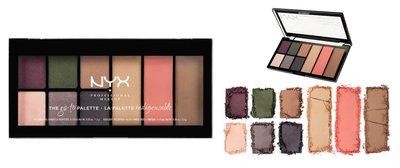 NYX The Go-To Palette Eyeshadows, Blush, Highlight And Contour Palette - GTP02 Bon Voyage