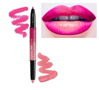 NYX Ombre Lip Duo - OLD 02 Pink Bubbles & Caviar - 2-in-1 Lipstick and Lipliner