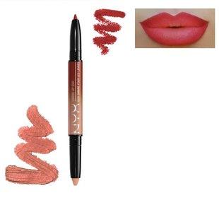 NYX Ombre Lip Duo - OLD08 Cinnamon & Spice - 2-in-1 Lipstick and Lipliner