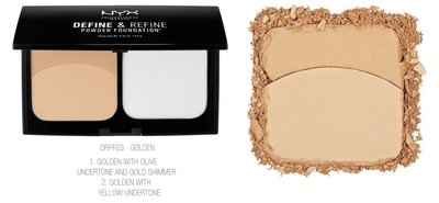 NYX Define & Refine Powder Foundation - DRPF03 Golden