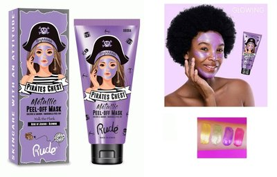 Rude Cosmetics Pirates Chest Peel-Off Mask Walk The Plank - Rose Of Jericho - Glowing
