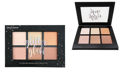 Profusion Glitter & Glam - 6 Color Highlight Palette