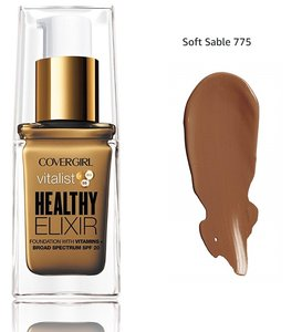 Covergirl Vitalist Healthy Elixir Foundation with Vitamins SPF20 - 775 Soft Sable