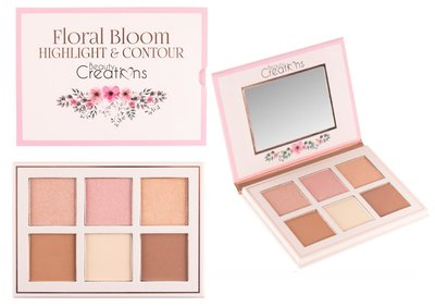 Beauty Creations Floral Bloom Highlight & Contour Palette 1